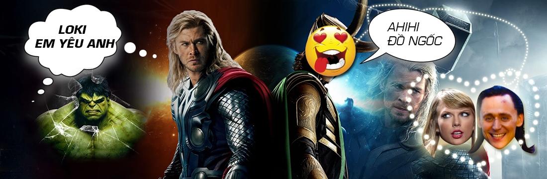 Chế: Team Avengers Nổi Điên Khi Loki Hẹn Hò Taylor
